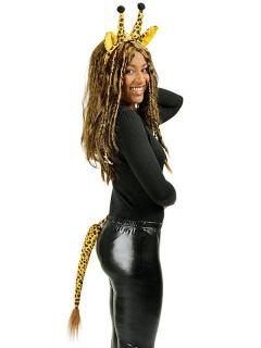 Giraffe Kostüm Set gelb-schwarz 2-teilig
