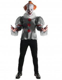 Es™-Kostüm Horrorclown Pennywise-Lizenzkostüm grau-rot-orange
