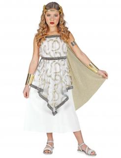 Griechen-Kostüm für Mädchen Göttin-Kostüm Faschingskostüm weiss-gold