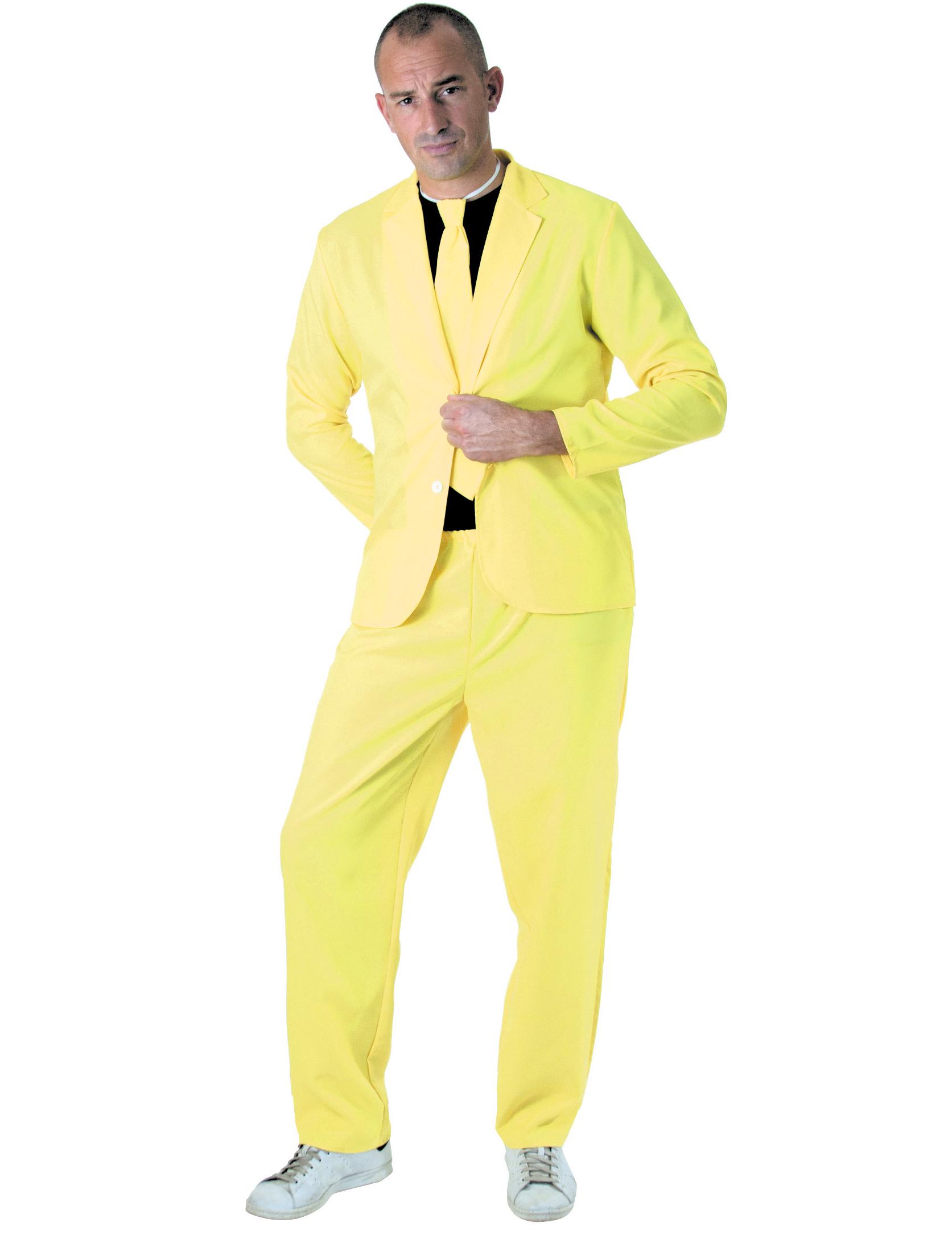 herren anzug neongelb g nstige faschings kost me bei karneval megastore. Black Bedroom Furniture Sets. Home Design Ideas