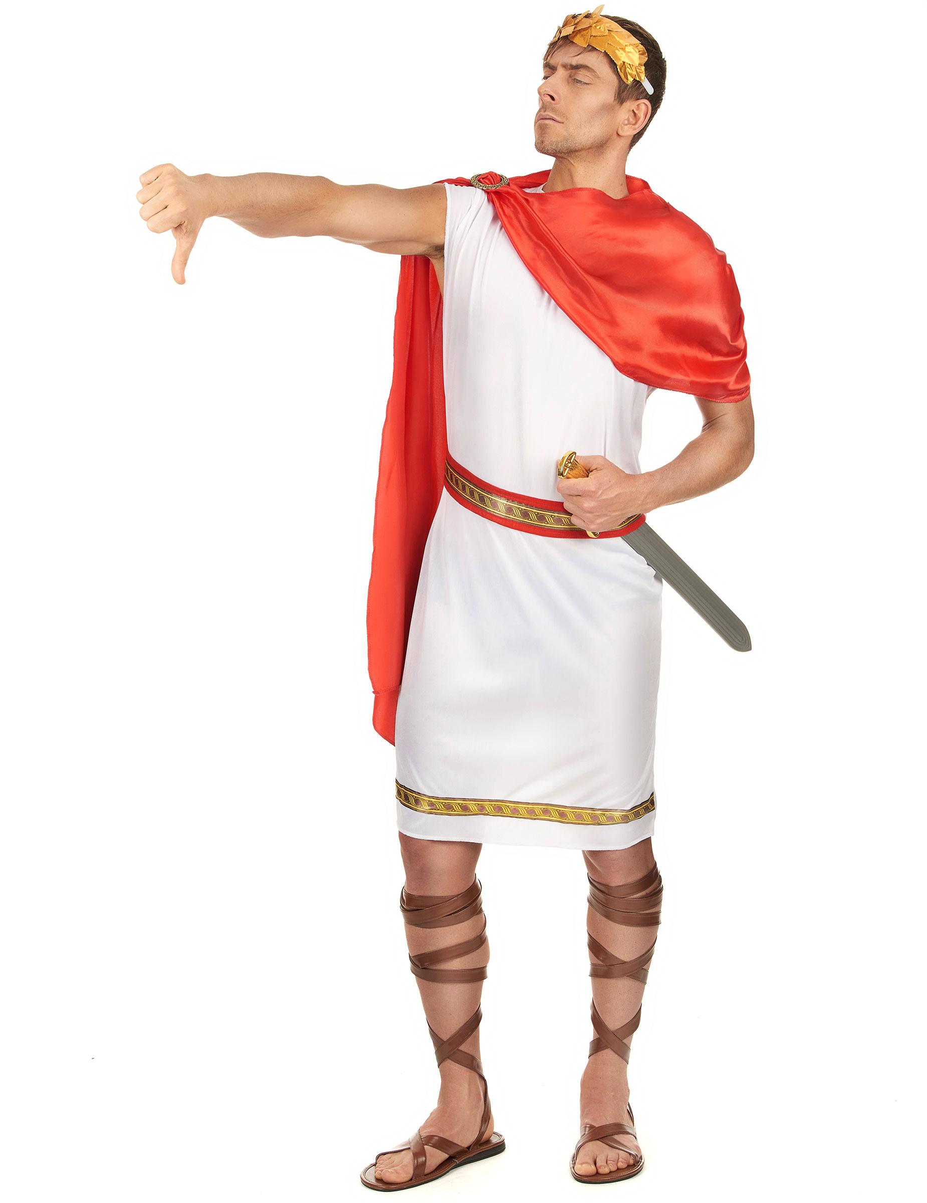 Römer-Kostüm in Übergröße Cäsar-Kostüm Karnevalskostüm in XXL für Herren