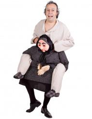 Mann auf Oma - Fun-Kostüm für Erwachsene