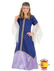 Mittelalterliche Königin - Mädchen-Kostüm, violett