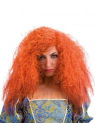 Lockenperücke für Damen orange
