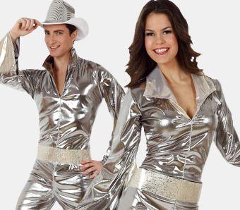 Goldfarbene Party-Schlaghose Deluxe M//L NEU Herren Karneval Fasching Verkleidu