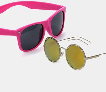 coole gelbe Pilotenbrille Karneval Party Brille Pilot cool Sonnenbrille