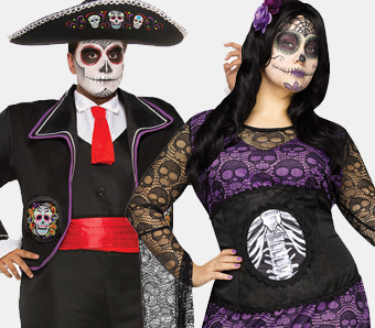 Mexikanische Totenfest Kostume Karneval Megastore De