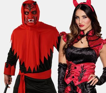 Teufelshörner Teufel Teufelin Hörner Fasching Kostüm Pailletten Teufelskostüm